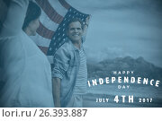Composite image of happy 4th of july text on white background. Стоковое фото, агентство Wavebreak Media / Фотобанк Лори
