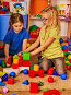 Break school of children playing in kids cubes indoor., фото № 26396847, снято 25 марта 2017 г. (c) Gennadiy Poznyakov / Фотобанк Лори