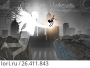 Купить «Venture capital concept with angel investor», фото № 26411843, снято 22 ноября 2018 г. (c) Elnur / Фотобанк Лори