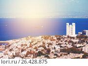 View on Haifa coastline, Israel. Редакционное фото, фотограф Дарья Зуйкова / Фотобанк Лори