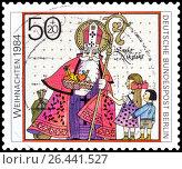 Купить «Санта Клаус. Марка Германии 1984 года», фото № 26441527, снято 29 апреля 2017 г. (c) Владимир Макеев / Фотобанк Лори