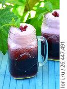 Berry summer cocktail. Стоковое фото, фотограф Галина Голубь / Фотобанк Лори
