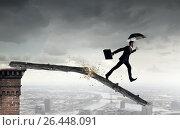 Купить «Overcome fear of failure . Mixed media», фото № 26448091, снято 25 мая 2019 г. (c) Sergey Nivens / Фотобанк Лори