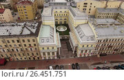 Hotel palace Hermitage building (2017 год). Стоковое видео, видеограф Алексей / Фотобанк Лори