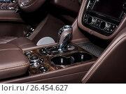 "Купить «STUTTGART, GERMANY - MARCH 04, 2017: Interior of the large luxury crossover SUV Bentley Bentayga, 2016. Europe's greatest classic car exhibition ""RETRO CLASSICS""», фото № 26454627, снято 4 марта 2017 г. (c) Sergey Kohl / Фотобанк Лори"