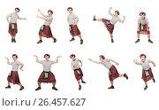 Купить «Funny scotsman isolated on white», фото № 26457627, снято 9 апреля 2014 г. (c) Elnur / Фотобанк Лори