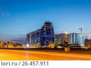 Купить «Night view of Baku Azerbaijan during sunset», фото № 26457911, снято 8 июня 2015 г. (c) Elnur / Фотобанк Лори