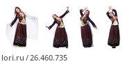 Купить «Young lady dancing traditional azeri dance», фото № 26460735, снято 28 февраля 2013 г. (c) Elnur / Фотобанк Лори