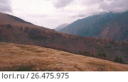 Купить «Mount Kazbek view from Stepantsminda town in Georgia», видеоролик № 26475975, снято 4 июня 2017 г. (c) Виктор Аллин / Фотобанк Лори