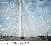 Купить «Санкт-Петербург. Западный скоростной диаметр. Мост над Петровским каналом», эксклюзивное фото № 26482075, снято 19 мая 2017 г. (c) Дмитрий Нейман / Фотобанк Лори