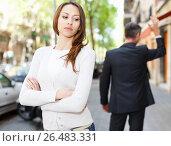 Купить «Quarrel between loving couple», фото № 26483331, снято 11 апреля 2017 г. (c) Яков Филимонов / Фотобанк Лори