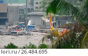 Купить «NOK Air Boeing 737 taxiing», видеоролик № 26484695, снято 1 декабря 2016 г. (c) Игорь Жоров / Фотобанк Лори