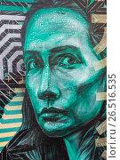 Купить «Граффити (Graffiti) в центре Москвы», эксклюзивное фото № 26516535, снято 21 марта 2014 г. (c) Алёшина Оксана / Фотобанк Лори