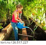 Купить «Девочка в саду», фото № 26517227, снято 26 мая 2013 г. (c) Гладских Татьяна / Фотобанк Лори
