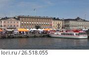 Купить «Солнечный июньский день в Холерной гавани. Хельсинки, Финляндия», видеоролик № 26518055, снято 10 июня 2017 г. (c) Виктор Карасев / Фотобанк Лори