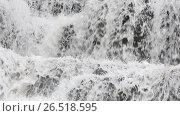 Купить «Spring waterfall background», видеоролик № 26518595, снято 22 мая 2017 г. (c) Юрий Брыкайло / Фотобанк Лори