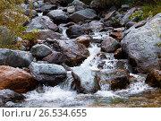 Купить «Горная река. Алтай», фото № 26534655, снято 12 августа 2015 г. (c) Ильин Сергей / Фотобанк Лори