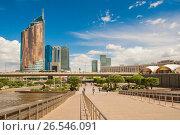 Купить «Казахстан. Астана. Красивый городской пейзаж .», фото № 26546091, снято 10 июня 2017 г. (c) Сергеев Валерий / Фотобанк Лори