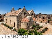 Православный монастырь Аркади на острове Крит, Греция, фото № 26547535, снято 4 июня 2017 г. (c) Наталья Волкова / Фотобанк Лори