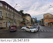 Купить «Автомобильная авария на улице Дахадаева в Махачкале», фото № 26547819, снято 15 июня 2017 г. (c) Максим Гулячик / Фотобанк Лори