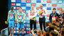 Чемпионат Европы по прыжкам в воду (12-18 июня 2017). Церемония награждения (мужчины, командные выступления). Киев, Украина, видеоролик № 26552619, снято 17 июня 2017 г. (c) FMRU / Фотобанк Лори