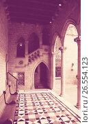 Gothic architecture dated 15th century in palace Generalitat d (2016 год). Стоковое фото, фотограф Яков Филимонов / Фотобанк Лори