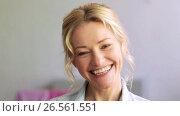 Купить «happy laughing woman face», видеоролик № 26561551, снято 15 декабря 2019 г. (c) Syda Productions / Фотобанк Лори