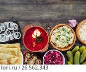 russian food assortment. Стоковое фото, фотограф Ольга Сергеева / Фотобанк Лори