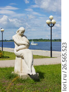 Скульптура на набережной Волги в Балахне, фото № 26565523, снято 18 июня 2017 г. (c) Александр Романов / Фотобанк Лори