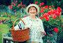 retiree gardener basket, фото № 26565599, снято 23 июня 2017 г. (c) Яков Филимонов / Фотобанк Лори