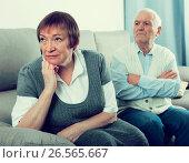 Купить «Elderly couple quarrel», фото № 26565667, снято 18 января 2019 г. (c) Яков Филимонов / Фотобанк Лори