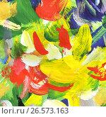 Купить «Абстрактный рисунок, гуашь», иллюстрация № 26573163 (c) Виктор Топорков / Фотобанк Лори