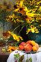 Натюрморт с персиками, фото № 26573451, снято 6 июля 2014 г. (c) Марина Володько / Фотобанк Лори