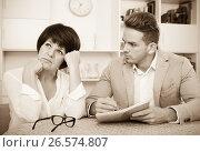 Купить «Elderly woman has discontentedly turned away», фото № 26574807, снято 19 октября 2019 г. (c) Яков Филимонов / Фотобанк Лори