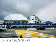 Купить «Sochi, Russia - May 31, 2017: Olympic park and Fisht stadium for Winter Olympic Games 2014. football stadium», фото № 26579879, снято 31 мая 2017 г. (c) ElenArt / Фотобанк Лори