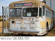Купить «Seattle Metro electric bus at Oregon Electric Railway Museum, Great Oregon Steam-Up, Antique Powerland, Brooks, Oregon.», фото № 26583151, снято 26 июля 2015 г. (c) age Fotostock / Фотобанк Лори
