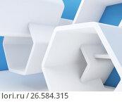 Купить «Abstract contemporary interior fragment 3d», иллюстрация № 26584315 (c) EugeneSergeev / Фотобанк Лори