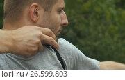 Купить «Man shooting an arrow», видеоролик № 26599803, снято 21 июня 2017 г. (c) Илья Шаматура / Фотобанк Лори