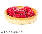 Купить «Tartlet with fresh raspberries», фото № 26601471, снято 6 июня 2017 г. (c) Наталия Пыжова / Фотобанк Лори