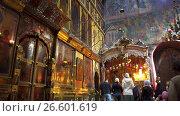 Купить «Trinity Cathedral in Lavra, Sergiyev Posad, Russia», видеоролик № 26601619, снято 25 октября 2016 г. (c) BestPhotoStudio / Фотобанк Лори
