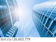 Купить «Modern city quarter bottom view», фото № 26603779, снято 25 февраля 2020 г. (c) Антон Гвоздиков / Фотобанк Лори