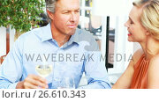 Купить «Couple toasting wine glasses while having lunch in a restaurant», видеоролик № 26610343, снято 17 января 2020 г. (c) Wavebreak Media / Фотобанк Лори
