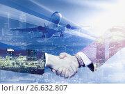 Купить «Handshake in business trip», фото № 26632807, снято 19 октября 2018 г. (c) Яков Филимонов / Фотобанк Лори
