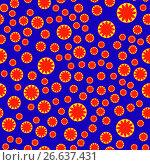 Floral vector pattern. Стоковая иллюстрация, иллюстратор Helga Preiman / Фотобанк Лори