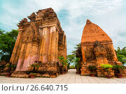 Купить «Old Vietnamese temple Tyam towers Po Nagar, Cham tower, Nha Trang», фото № 26640715, снято 17 января 2017 г. (c) Сергей Тимофеев / Фотобанк Лори