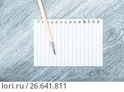 Купить «Empty torn page», фото № 26641811, снято 21 сентября 2018 г. (c) Яков Филимонов / Фотобанк Лори