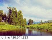 Купить «Ayryk lakes in Altai mountains», фото № 26641823, снято 18 июля 2011 г. (c) Яков Филимонов / Фотобанк Лори