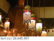Купить «Светильники в восточном стиле, украшенные бисером», фото № 26645991, снято 30 июня 2012 г. (c) Алёшина Оксана / Фотобанк Лори