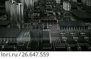Купить «Close-up of electronic circuit board», видеоролик № 26647559, снято 24 января 2020 г. (c) Wavebreak Media / Фотобанк Лори