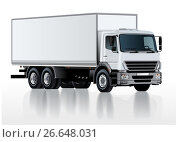 Купить «Vector truck template isolated on white», иллюстрация № 26648031 (c) Александр Володин / Фотобанк Лори
